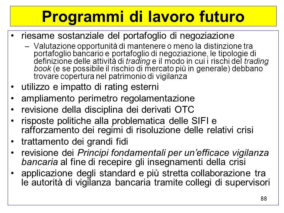 Programmi di lavoro futuro