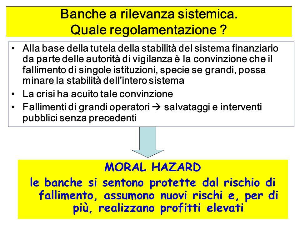 Banche a rilevanza sistemica. Quale regolamentazione