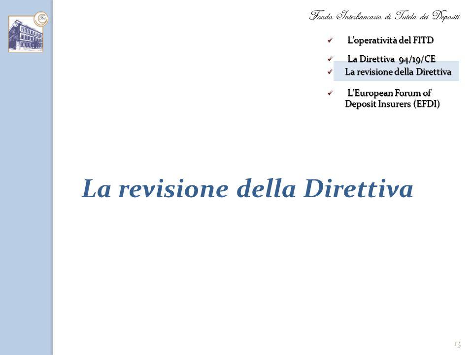 La revisione della Direttiva
