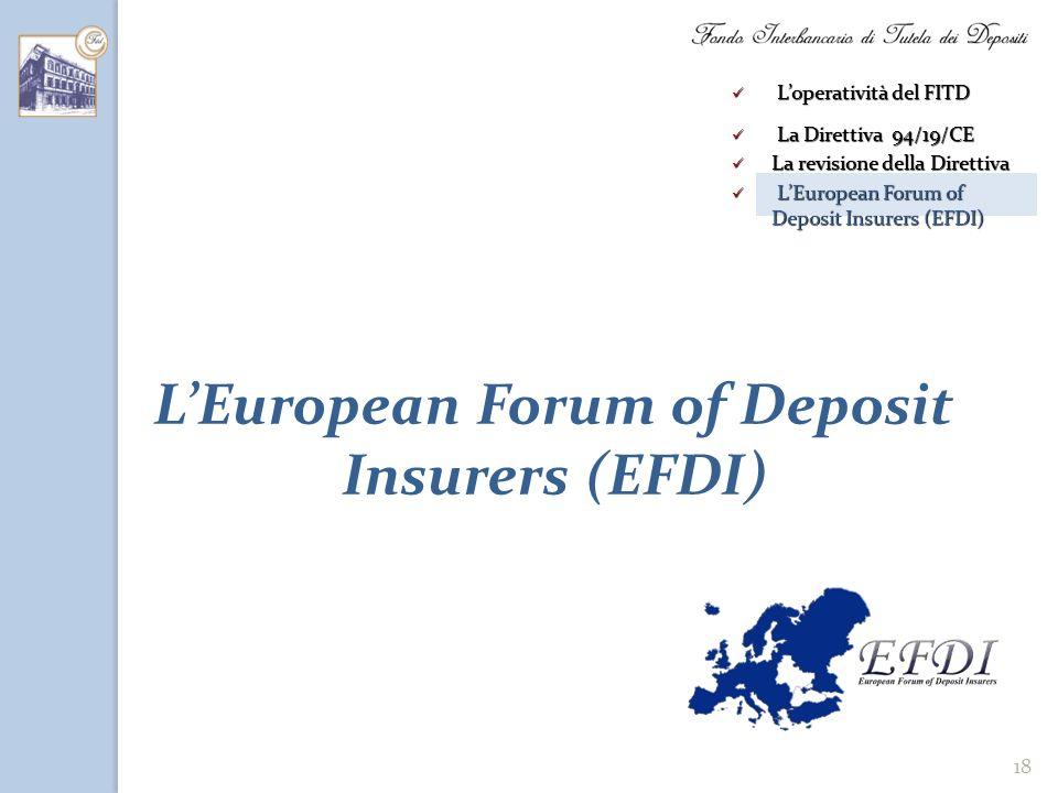 L'European Forum of Deposit Insurers (EFDI)