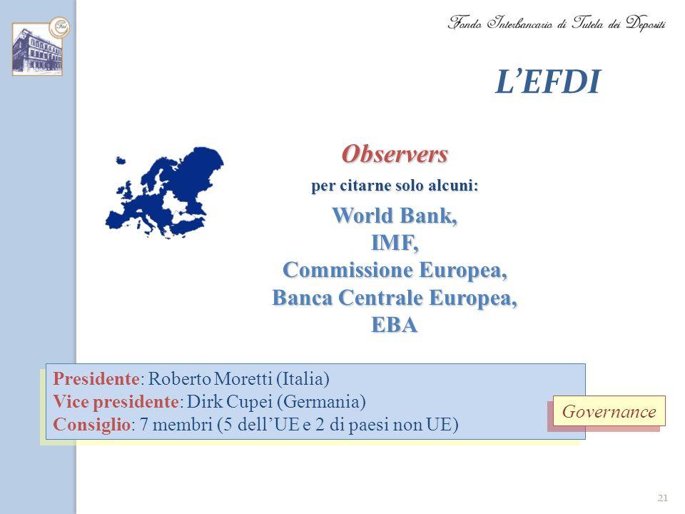per citarne solo alcuni: Banca Centrale Europea,