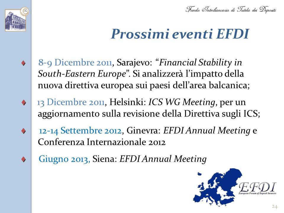 Prossimi eventi EFDI