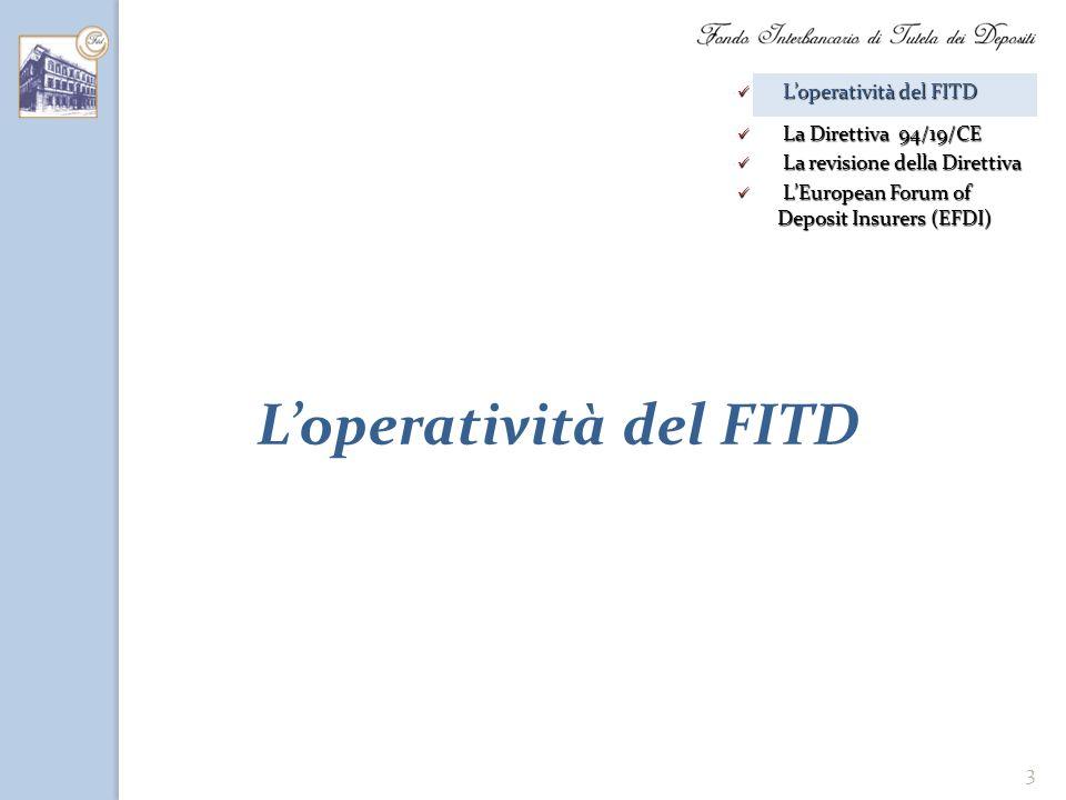 L'operatività del FITD