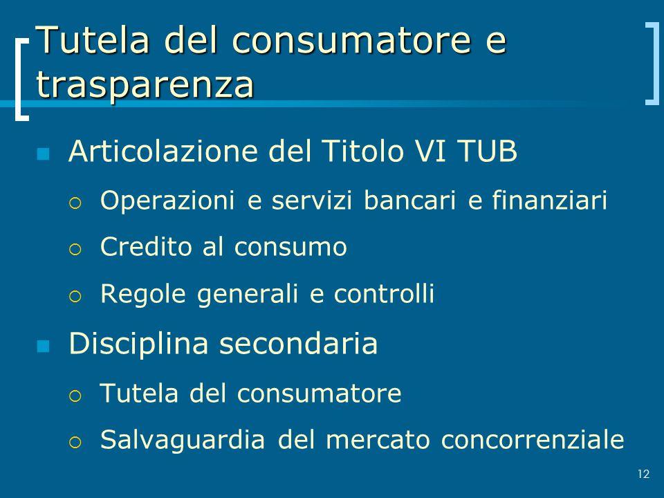Tutela del consumatore e trasparenza