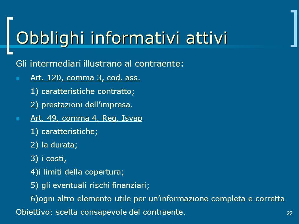Obblighi informativi attivi