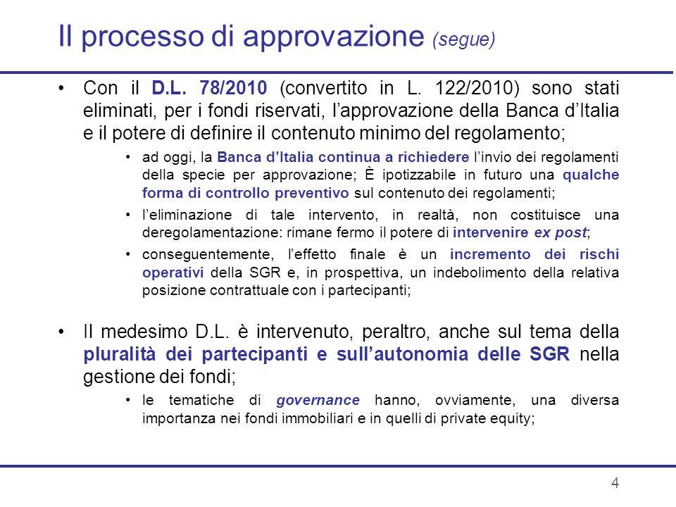 Il processo di approvazione (segue)