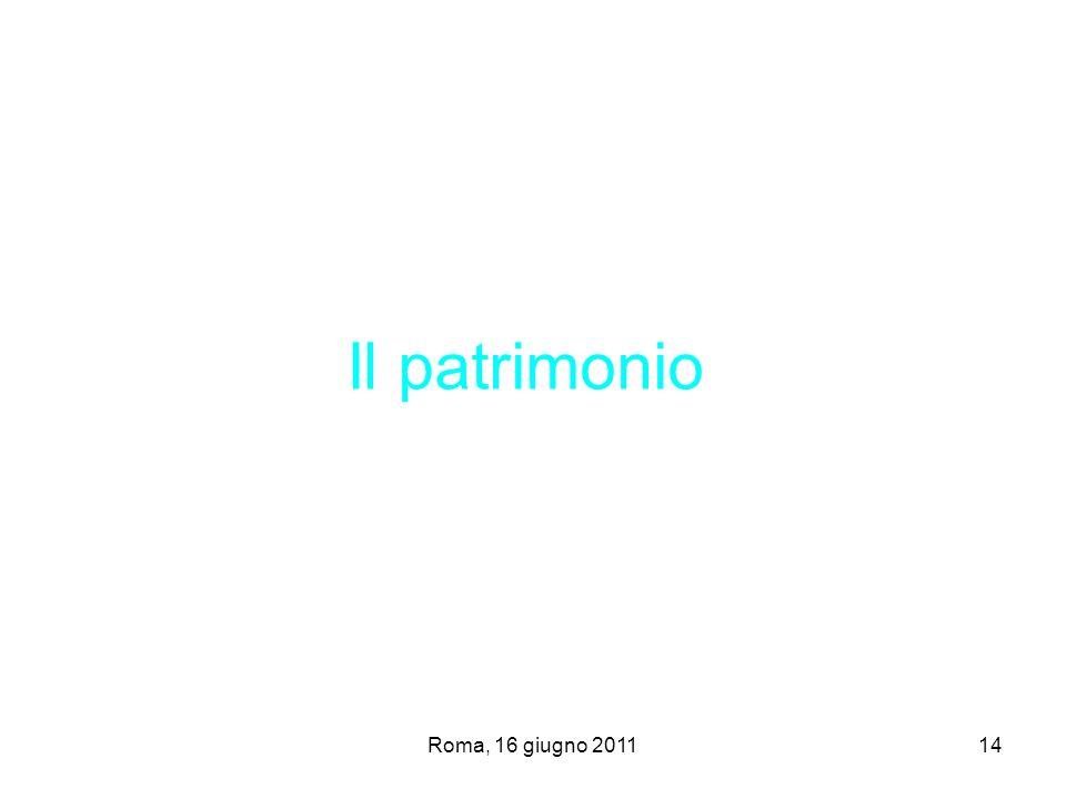 Il patrimonio Roma, 16 giugno 2011