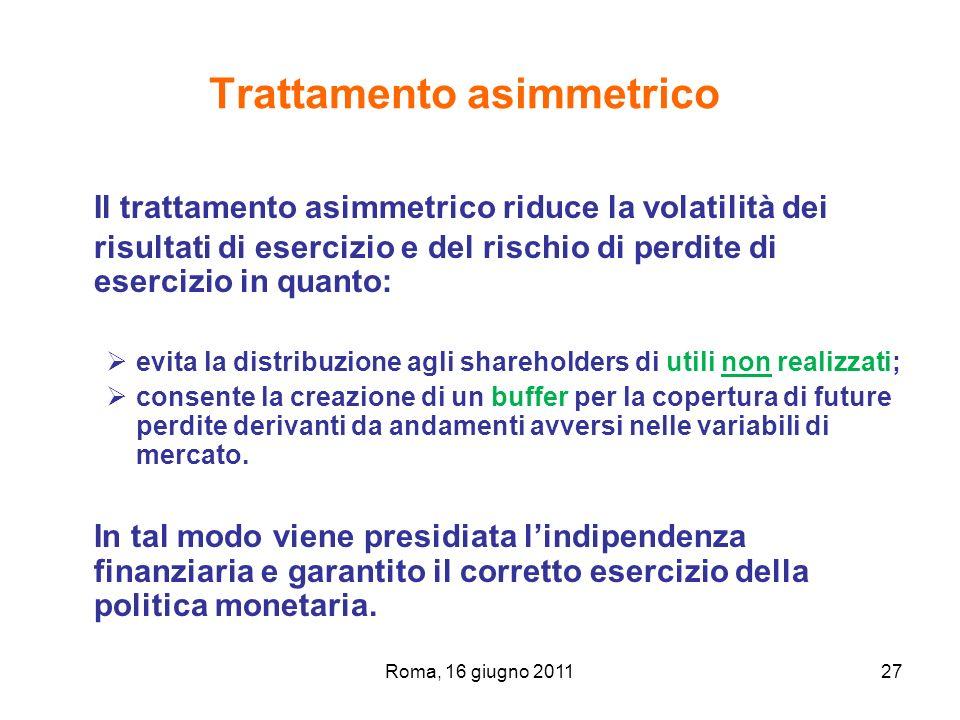 Trattamento asimmetrico