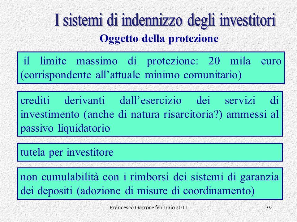 I sistemi di indennizzo degli investitori