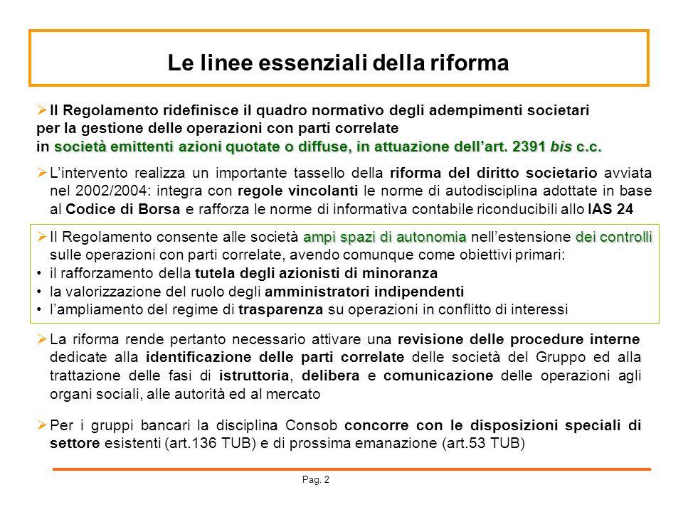 Le linee essenziali della riforma