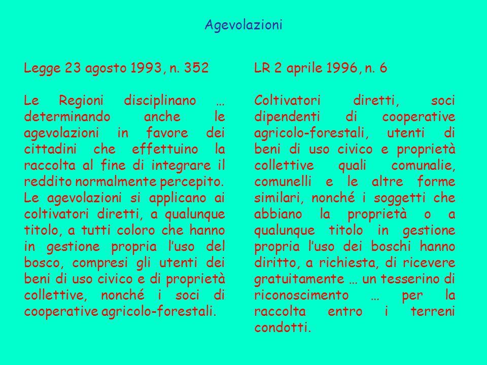 Agevolazioni Legge 23 agosto 1993, n. 352.