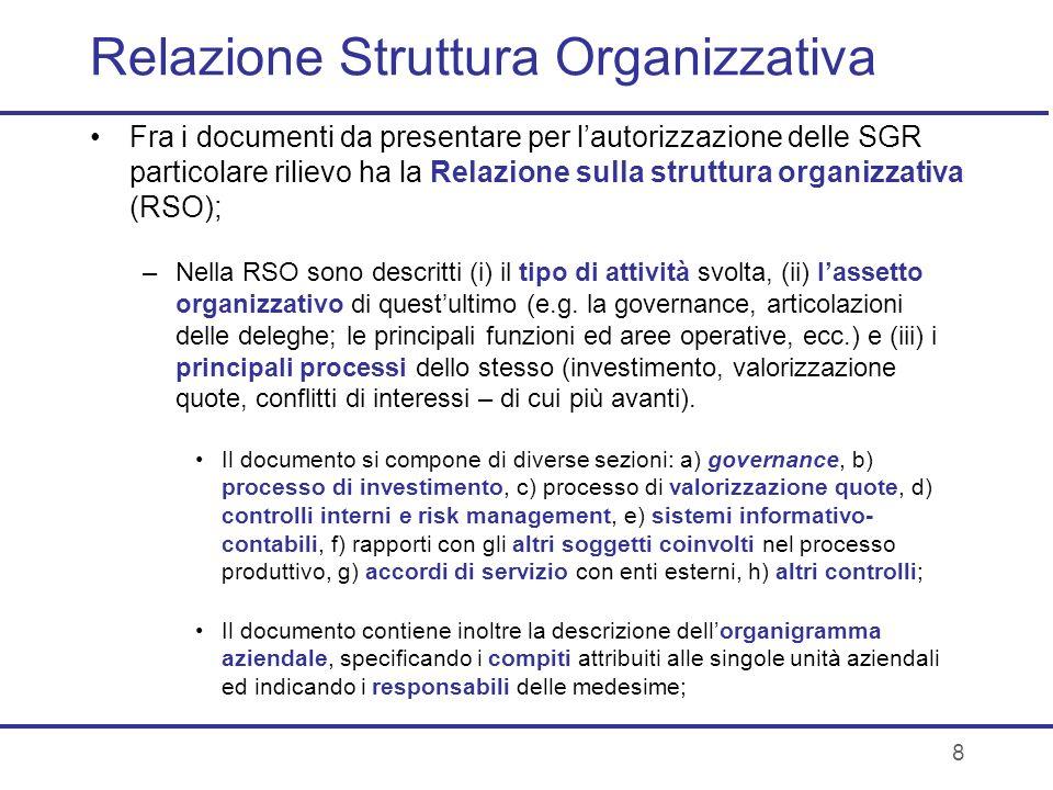 Relazione Struttura Organizzativa