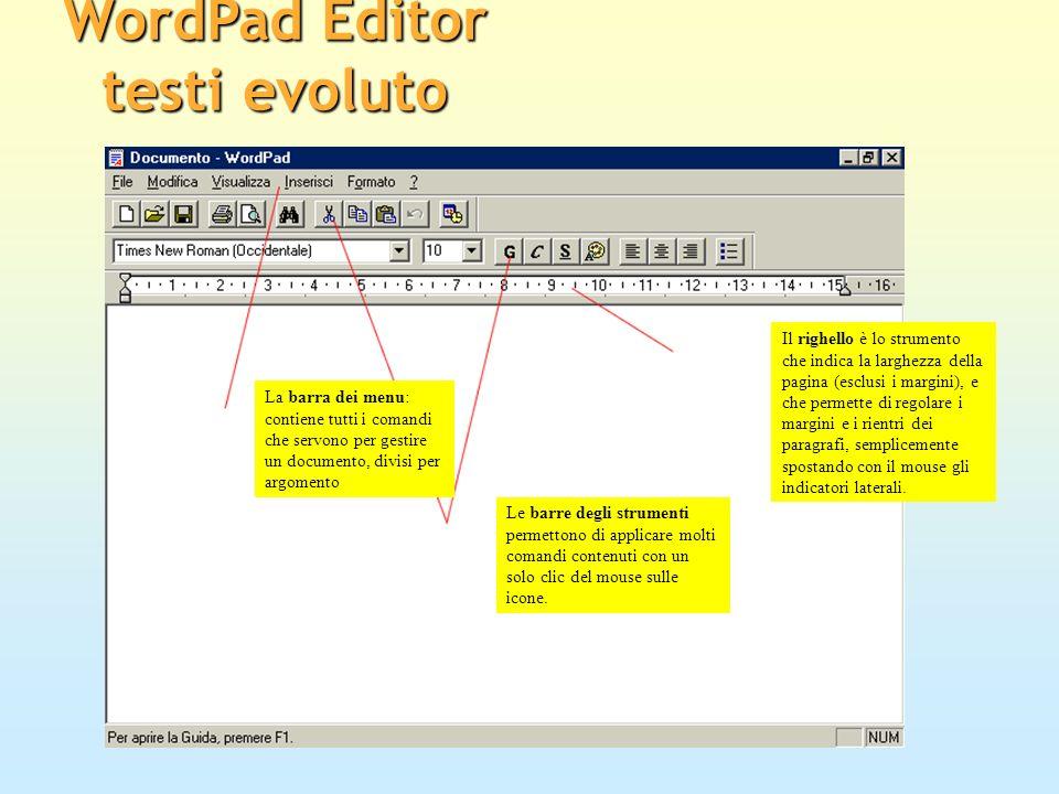 WordPad Editor testi evoluto