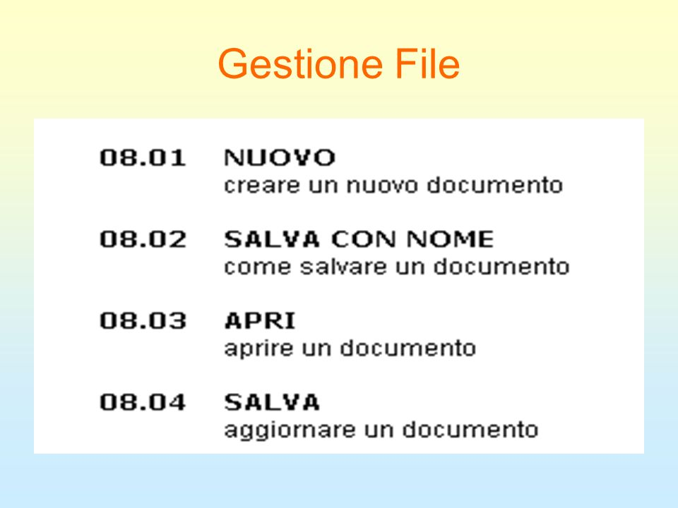 Gestione File