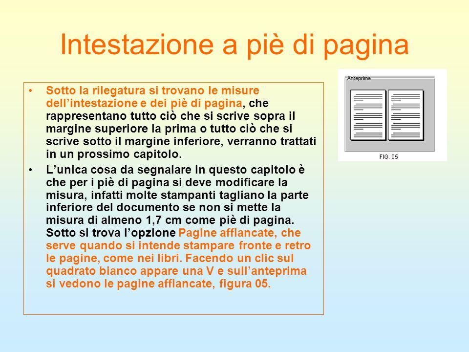 Intestazione a piè di pagina
