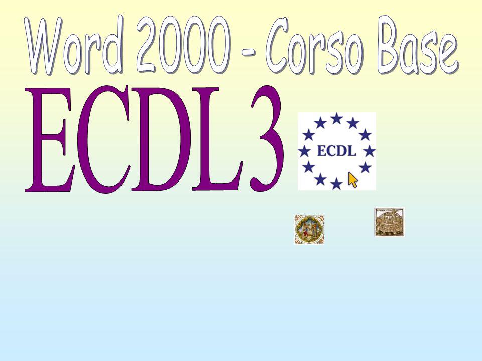 Word 2000 - Corso Base ECDL 3
