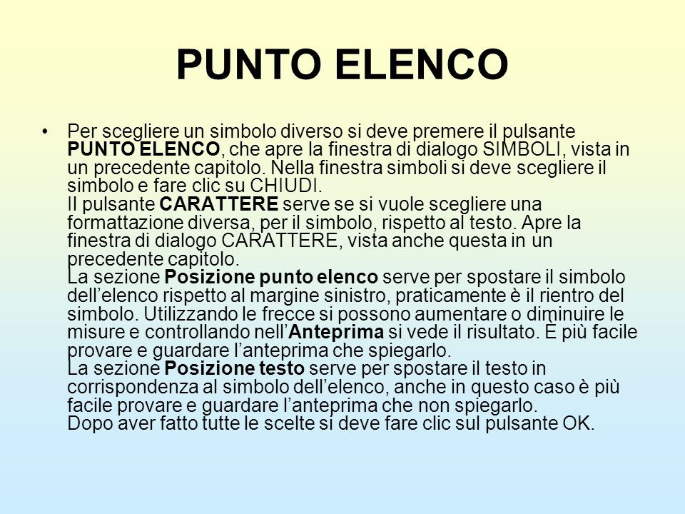 PUNTO ELENCO