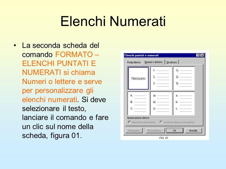 Elenchi Numerati