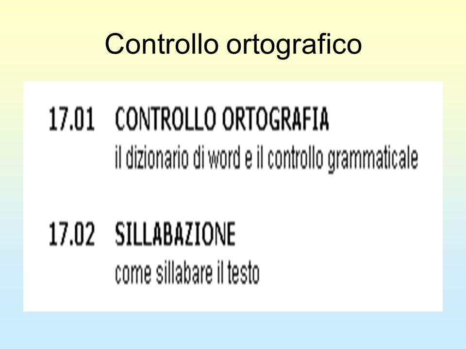 Controllo ortografico