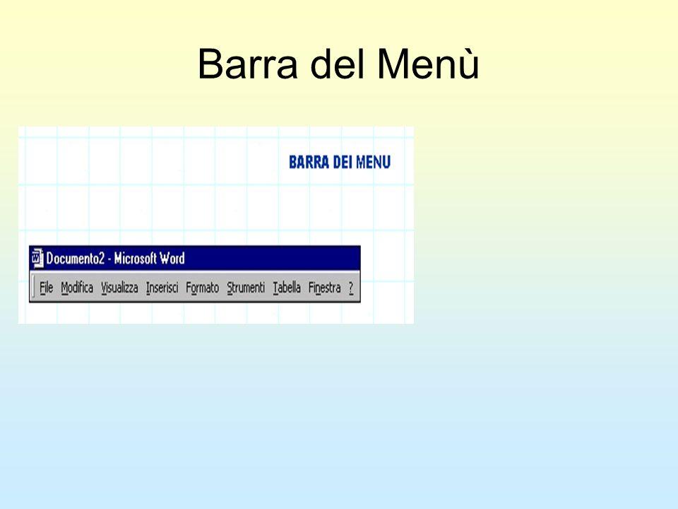 Barra del Menù