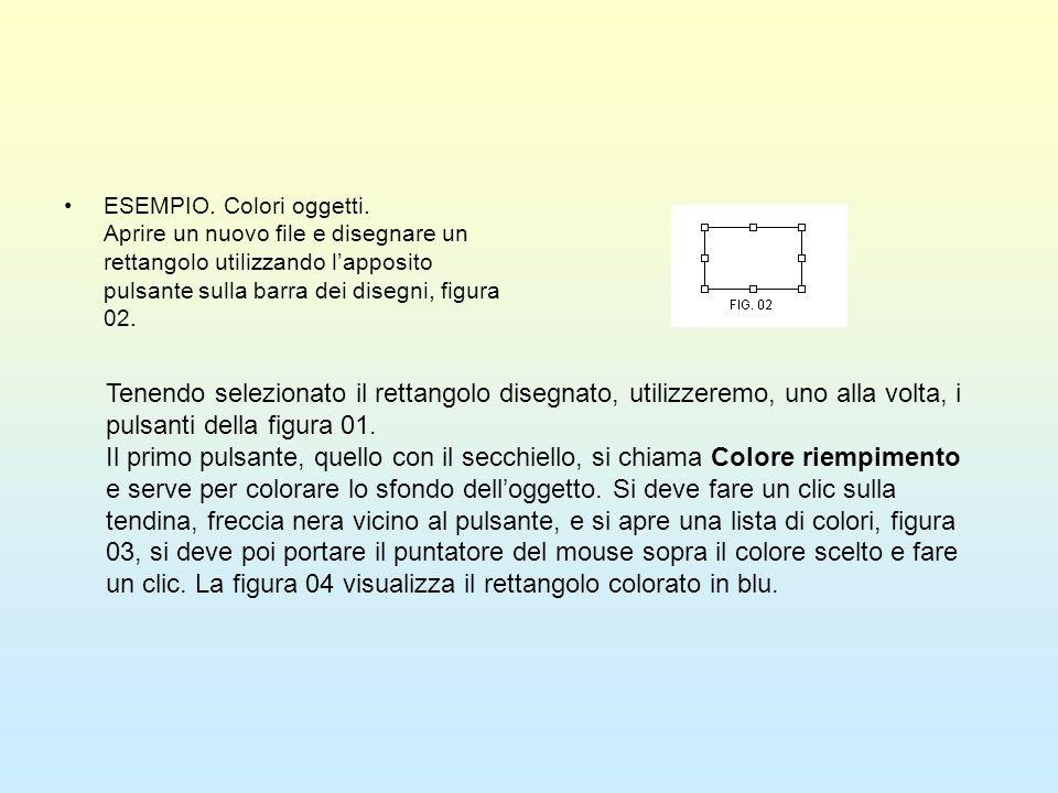 ESEMPIO. Colori oggetti