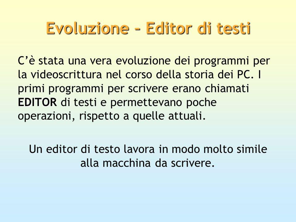 Evoluzione – Editor di testi