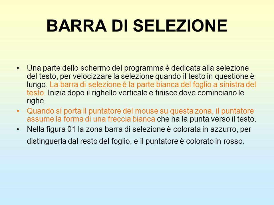 BARRA DI SELEZIONE