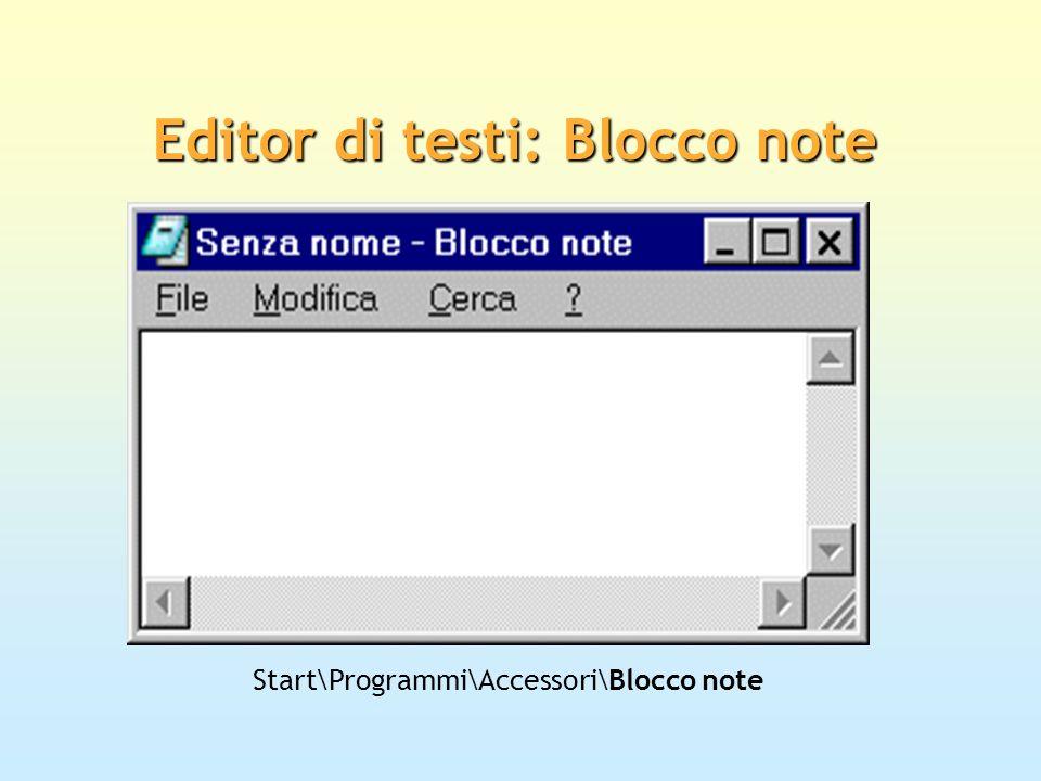 Editor di testi: Blocco note