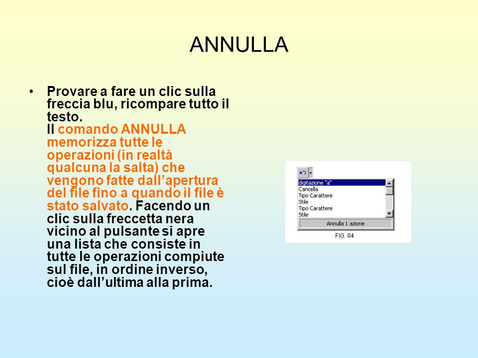 ANNULLA