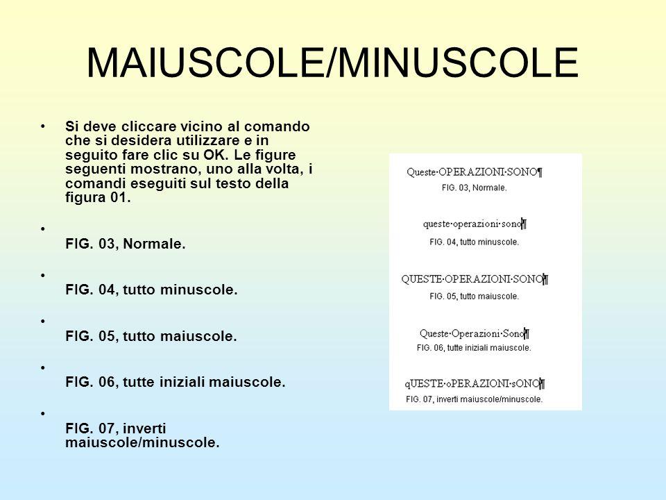 MAIUSCOLE/MINUSCOLE