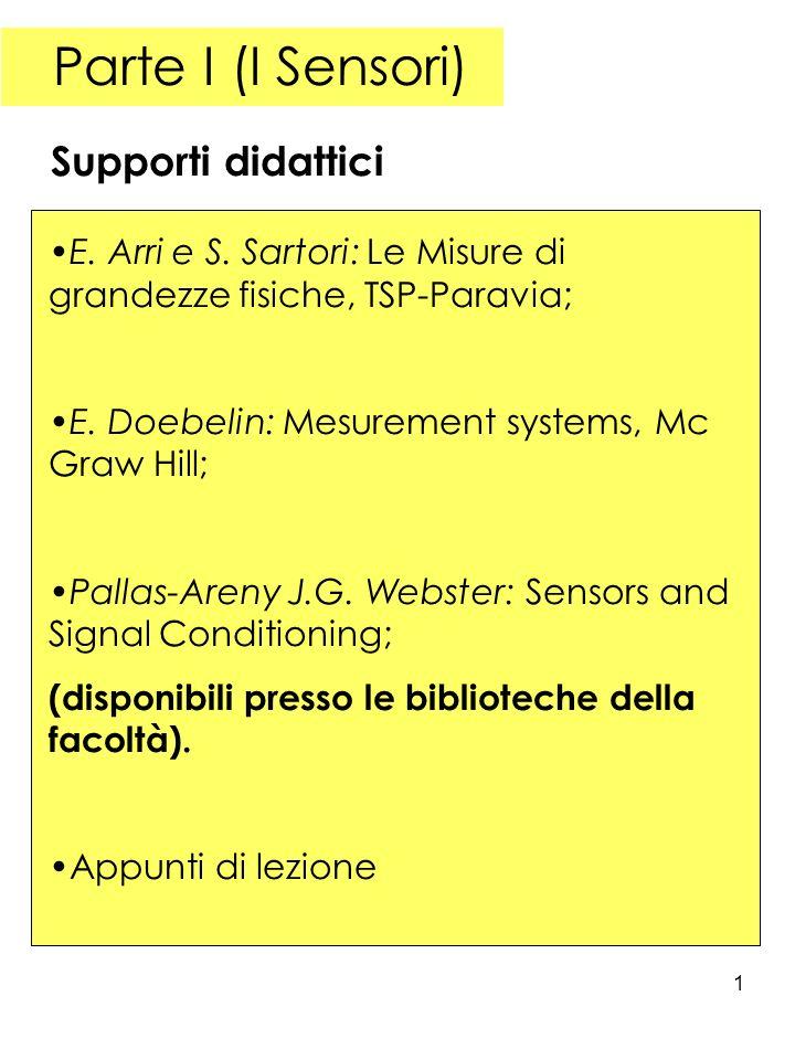Parte I (I Sensori) Supporti didattici