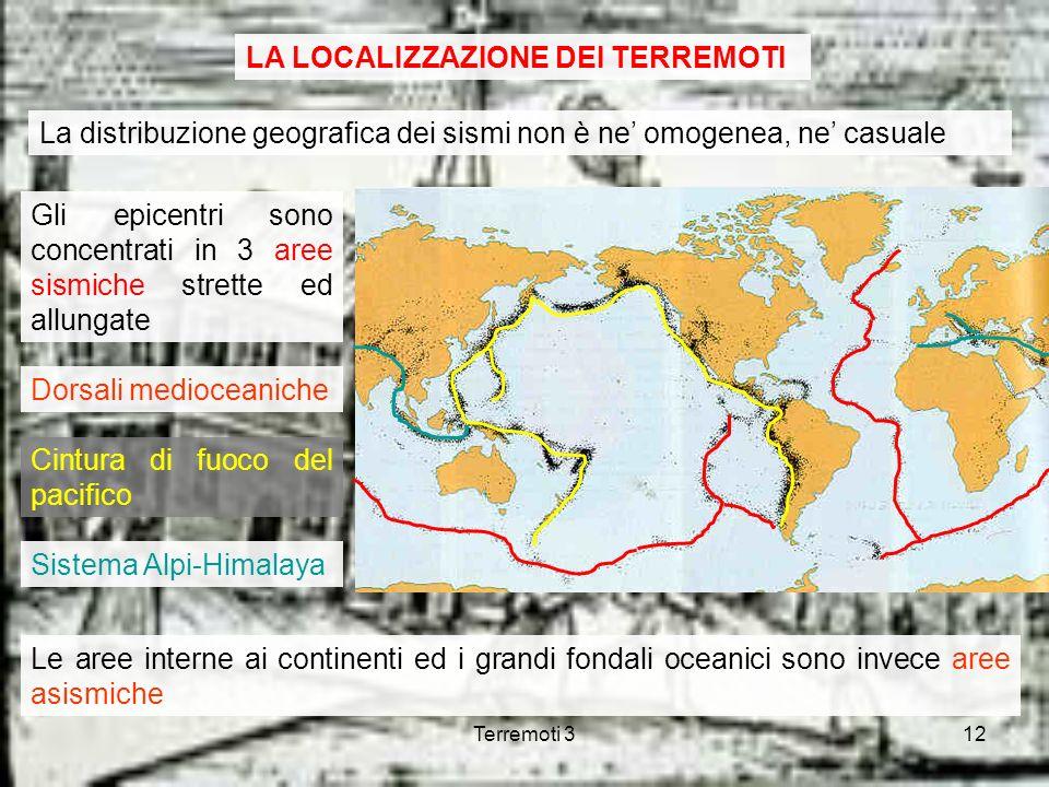 LA LOCALIZZAZIONE DEI TERREMOTI
