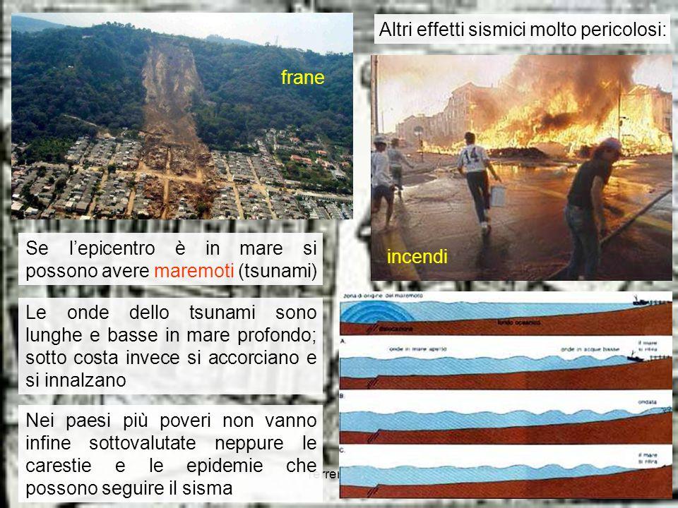 Altri effetti sismici molto pericolosi: