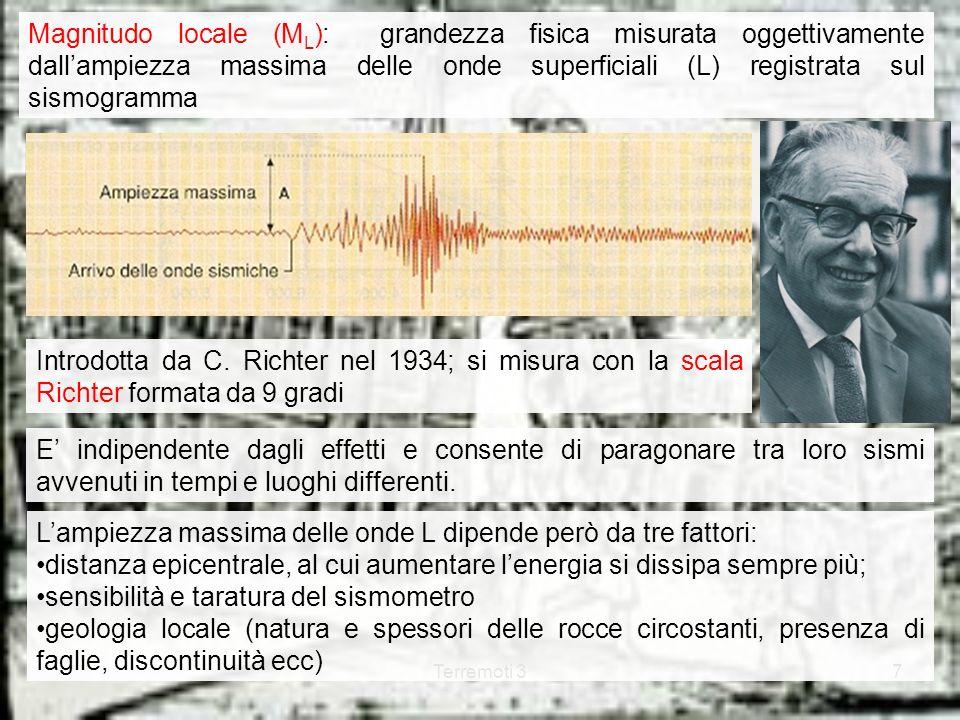 L'ampiezza massima delle onde L dipende però da tre fattori: