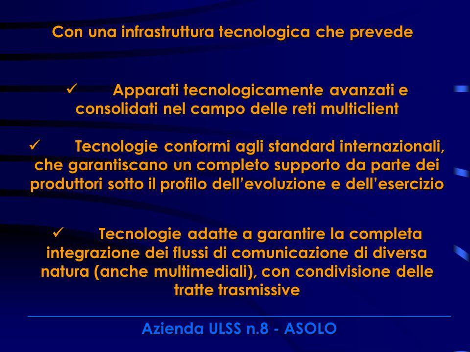 Con una infrastruttura tecnologica che prevede