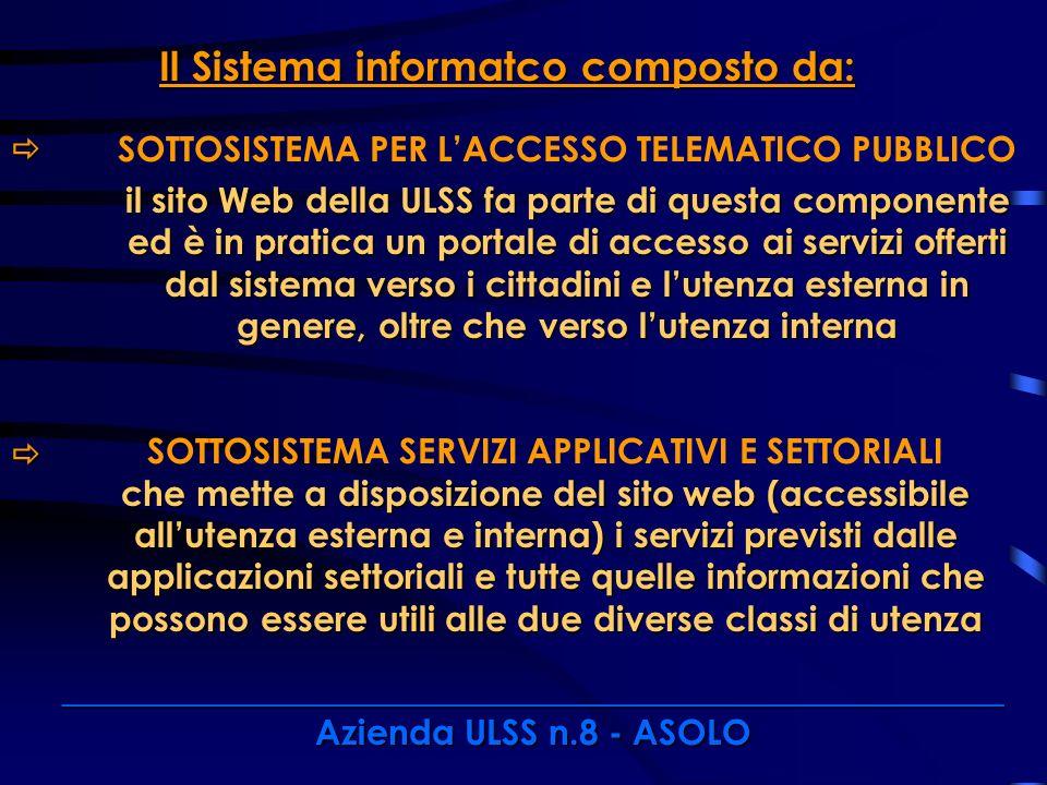 Il Sistema informatco composto da: