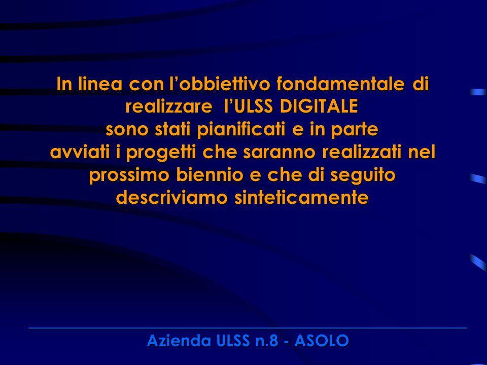 In linea con l'obbiettivo fondamentale di realizzare l'ULSS DIGITALE