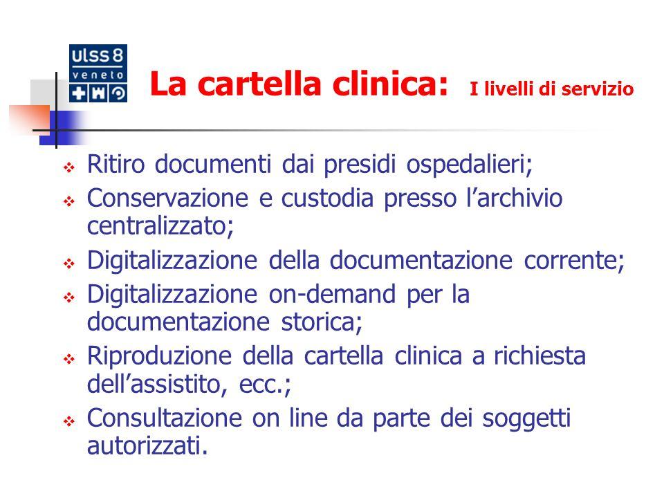 La cartella clinica: I livelli di servizio