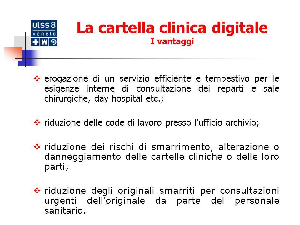 La cartella clinica digitale I vantaggi