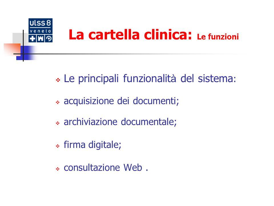 La cartella clinica: Le funzioni