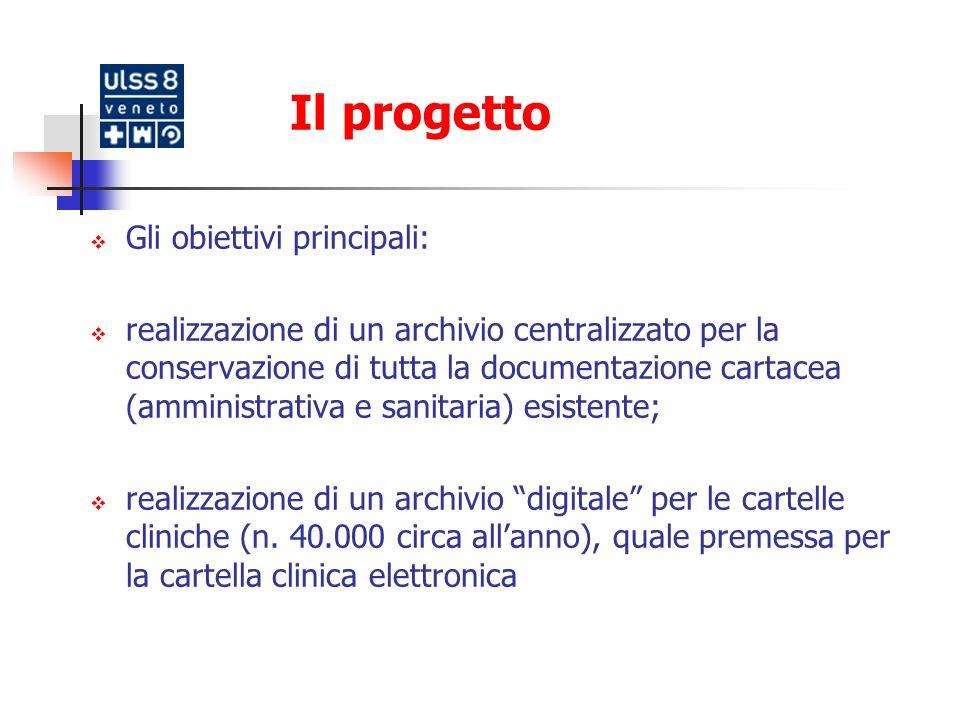 Il progetto Gli obiettivi principali: