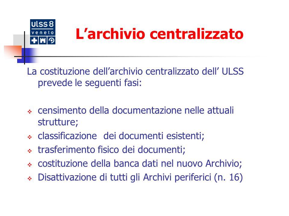 L'archivio centralizzato