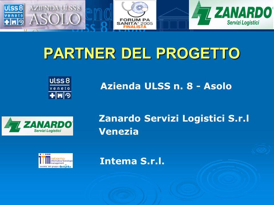 PARTNER DEL PROGETTO Azienda ULSS n. 8 - Asolo