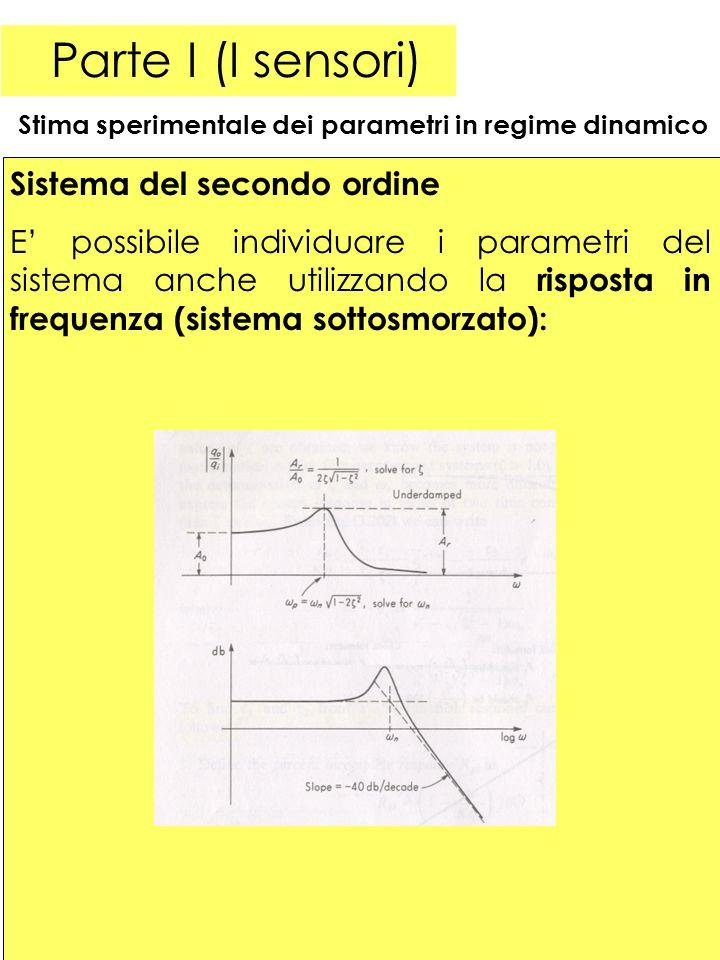 Parte I (I sensori) Sistema del secondo ordine
