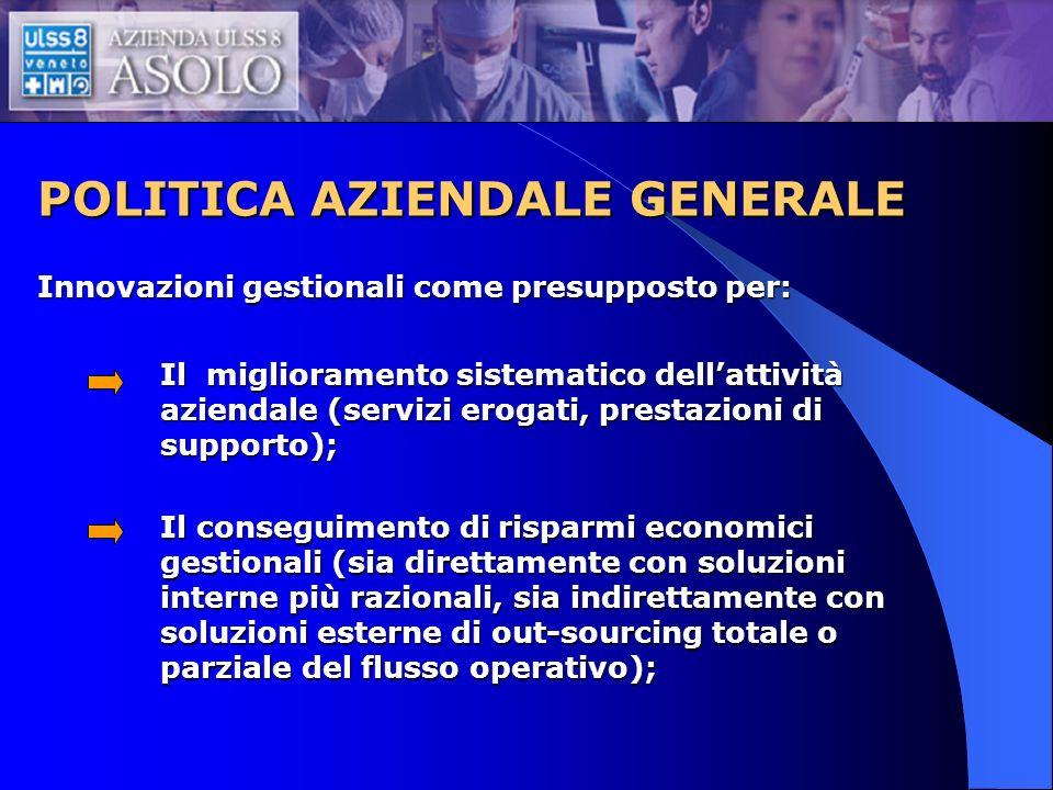 POLITICA AZIENDALE GENERALE