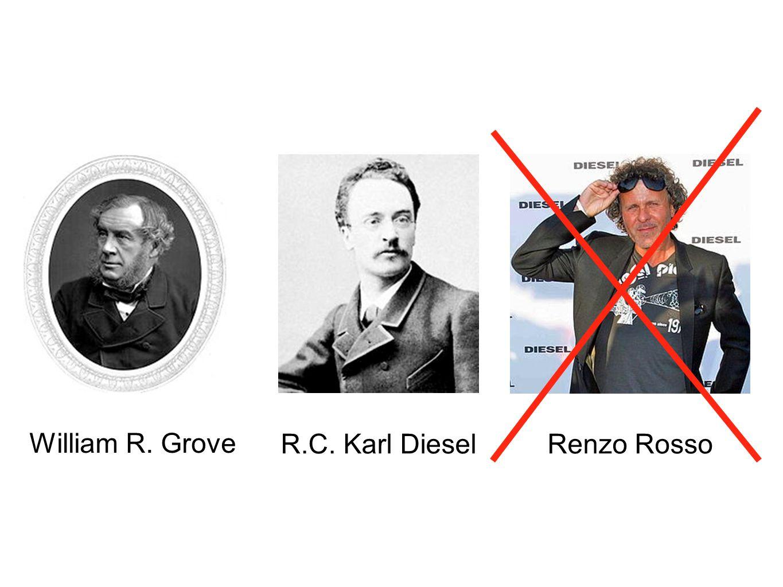 William R. Grove R.C. Karl Diesel Renzo Rosso