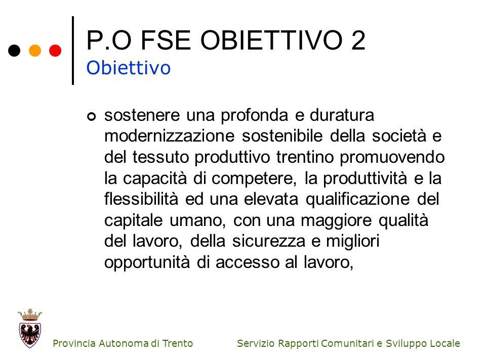 P.O FSE OBIETTIVO 2 Obiettivo
