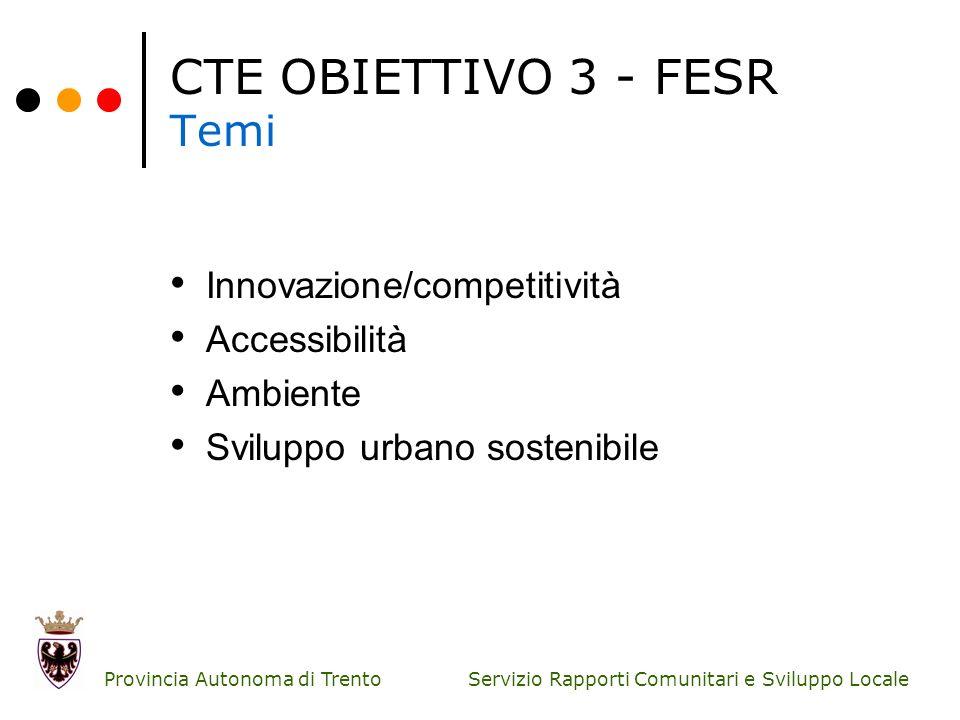 CTE OBIETTIVO 3 - FESR Temi