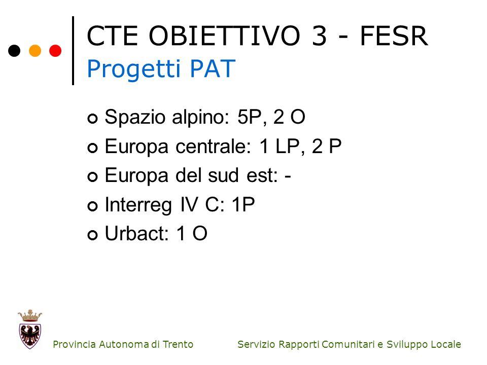 CTE OBIETTIVO 3 - FESR Progetti PAT