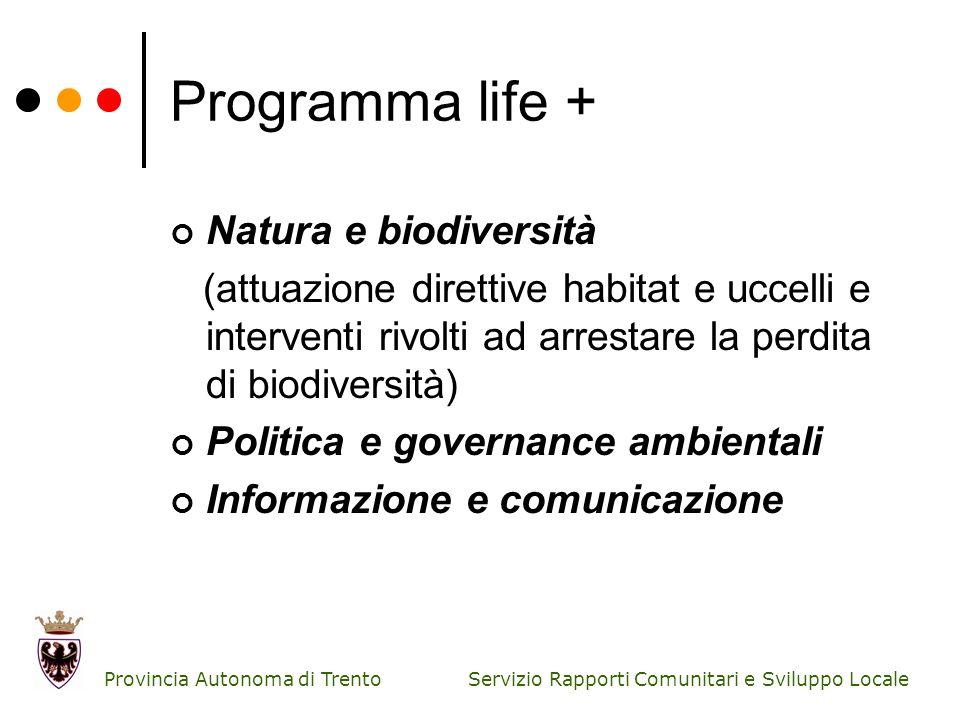 Programma life + Natura e biodiversità